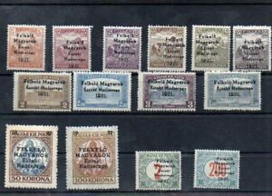 Hungary 1921 West Hungary I 14pc diff MNH no guarantee