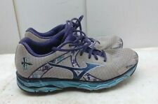 Mizuno Wave Inspire White Blue Synthetic Athletic Sneakers Women Shoes 9.5M 40,5