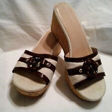 Tommy Bahama Sandals Women US 6.5 St.Monica Patent Pineapple Cork Slides Wedge