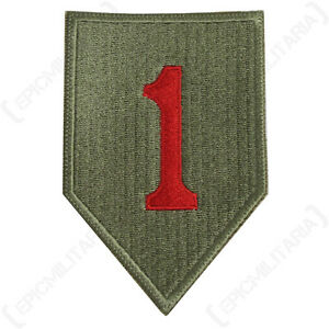 US Army 1ST INFANTRY DIVISION Insignia Patch WW2 Repro American Big Red One 1