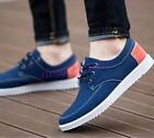 2017 Free Shipping Mens Boys Casual Flats Canvas Loafers Lace Up Sport Shoes New