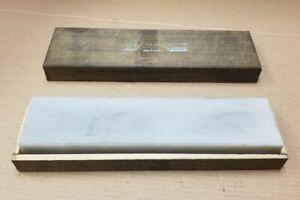 "Vintage Norton Bear 8"" Hard Arkansas Translucent Oilstone HM8 With Case"