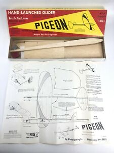 SIG Hand Launch Glider Kit Clark Ross Trainer PIGEON Model Project For Beginners