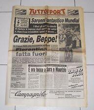 Tuttosport CICLISMO MONDIALI GOODWOOD 1982 BEPPE SARONNI 6 settembre Giuseppe