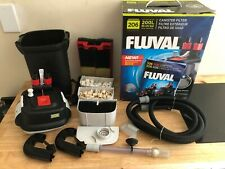 Fluval 206 Canister Filter (<45g tanks) w/ all accessories, media, & manual