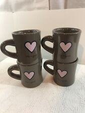 Life is Good HEART Ceramic Mug 'Do What You Like, Like What You Do' set of 4