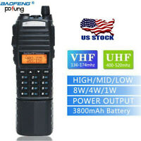 BaoFeng UV-82 Tri-Power 8W/4W/1W High Power 3800mAh Long Range Two Way Radio US