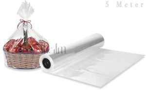 5 Meter Clear Sea Through Cellophane Wrapping Gift Paper | Hampers Wrap