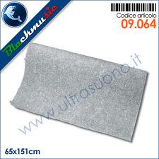 Moquette acustica adesiva grigio chiaro 65x151cm per interni, subwoofer, pianali