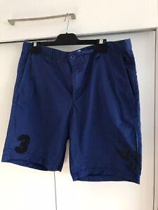 US Polo Association Mens Dress Shorts Blue Size Large  36 Inch Waist