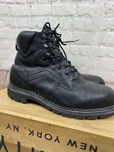 Men's RED WING 10 black leather steel toe work boots chukka ankle NICE!