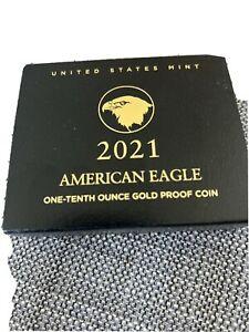 2021-W American Eagle One-Tenth Ounce Gold Proof Coin (21EEN) Type 2