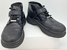 Kangol Mens Black Leather Ankle Lace Up with Ankle Strap Boots  Sz 10 K1576