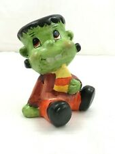 "Baby Frankenstein Figure Ceramic Halloween Decoration Statue Fun 5"" Tall"