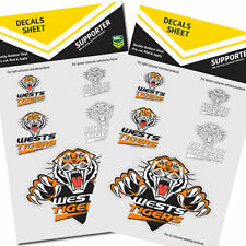 2 x Sets of Wests Tigers iTag Car Sticker Sheet - inc 5 logos