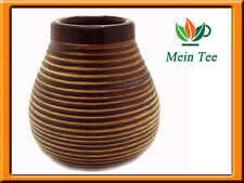 Mate Becher Keramik Braun  Matero Mate Tee