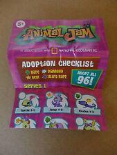 Animal Jam Adoption Checklist Series 1