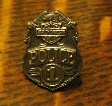 Harley Davidson Police Lapel Pin - Vintage Motorcycle Cop #1 Silver Mini Badge