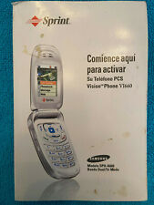 SAMSUNG VI660 MODEL SPH-A660 SPRINT PHONE OWNERS MANUEL GUIDE 73PGS ENG/ SPANISH