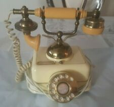 Vintage Versailles Victorian French Rotary Corded Onyx Phone F50381 Square Base