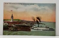 San Francisco  California Ferry Building and Boat Slips Postcard G9