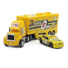 Disney Pixar Cars No.74 Mack Racer's Truck & No.74 Sidewall Shine Auto Neu