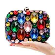 Bling Diamond Crystal Cluth Wedding  Evening Party Prom Handbag Purse Bag