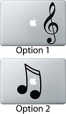 Musical Note Music Sticker Apple Mac Book Air Laptop Decal Treble Bass Clef