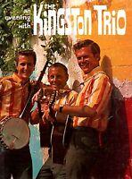 KINGSTON TRIO 1963 SUNNY SIDE! U.S. TOUR CONCERT PROGRAM BOOK BOOKLET / EX 2 NMT