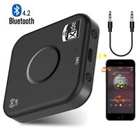 2 in 1 Wireless Bluetooth Receiver V4.2 Audio Adapter Stereo Car Aux Music 3.5mm