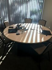 Round Meeting Room Table with 6 chairs