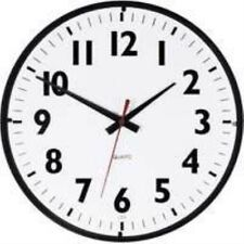 "Westclox 14"" Office Black White Clock"