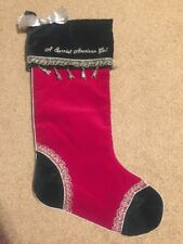Discontinued Original American Girl Dolls Christmas Holiday Red & Green Stocking
