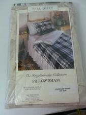 Hillcrest Black & White combed Cotton Standard Pillow Sham  The kinghtsbridge