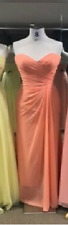 Designer Party Formal Dress in Tangerine Size 12 Brand New Without Tag