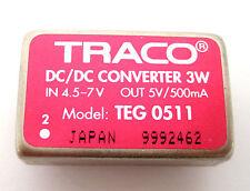 Traco 3-Watt DC/DC Converter: 4.5-7V Input, 5V/.50A Output: Model TEG-0511