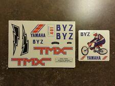 Bmx old school Yamaha 1982 BYZ 401 sticker set Autocollant vintage shimano DX GT