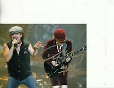 AC/DC BAND HAND SIGNED FOUR 6 X 8 INCH STUNNING COLOUR PHOTOGRAPHS RARE