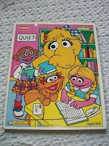 "1994 Playskool Frame Tray Puzzle ~ Sesame Street ~ 9 1/2"" x 11 1/2"""