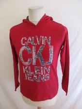 T-shirt à capuche Calvin Klein Rouge Taille 14 ans à - 48%