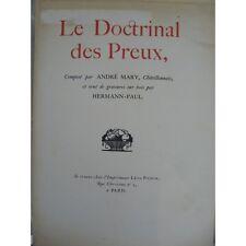 Hermann-Paul Mary André Le doctrinal des preux Gravures sur bois Leon Pichon 191