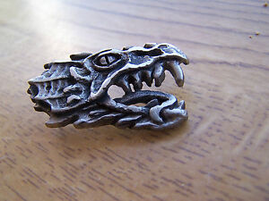 Dragon Pin Badge Lapel Metal Brooch Mythical Magic Gothic Merlin FREE UK POST