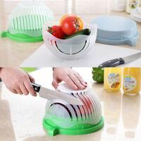 Bowl Coupe Salade Légumes Facile Ustensile Fruits Légumes Égouttoir Cuisine