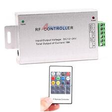 RF Remote Control 12-24V Drive Box Wireless For 5050 3528 RGB LED Strip Lights