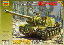 Zvezda 1/35 RUSSIAN ISU-122 soviet tank destroyer # 3534