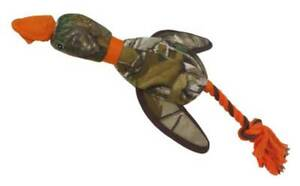 Pets First Realtree Duck Slingshot Tough Nylon Rope & Squeaker Dog Toy - Camo