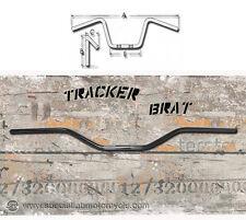Guidon Track Brat Vintage Noir Poli Commandes 22mm