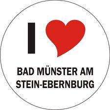 Aufkleber / Autoaufkleber - I LOVE Bad Münster am Stein-Ebernburg - JDM 80mm