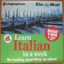 LEARN ITALIAN IN A WEEK DISC TWO LINGUAPHONE AUDIO CD NO READING NO WRITING