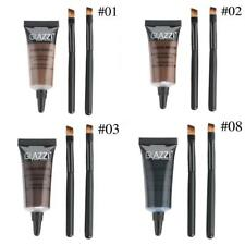 2X Brown Waterproof Tint Eyebrow Henna With Mascara Eyebrows Paint Brush Set